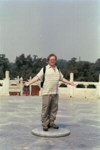Andy on the Sound Circle at the Temple of Heaven